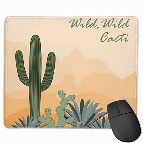 Mauspad Kaktus Opuntia und Agave in der...