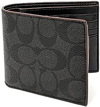 Coach Men's Coin Wallet No Size (Black/Black/Oxblood)