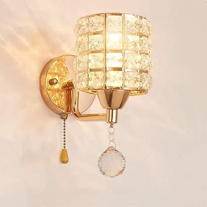 Sconce met kristallen wandlamp, modern, luxe kristallen wall sconce gepolijst, chroom, wandklok licht fixuture