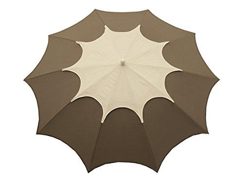 Maffei Art 35 FLOS. Parasol de Design, Rond, diamètre cm. 250 avec cheminée. BREVETE Fabriqué en Italie. Coluleur Taupe/cheminée Blanc