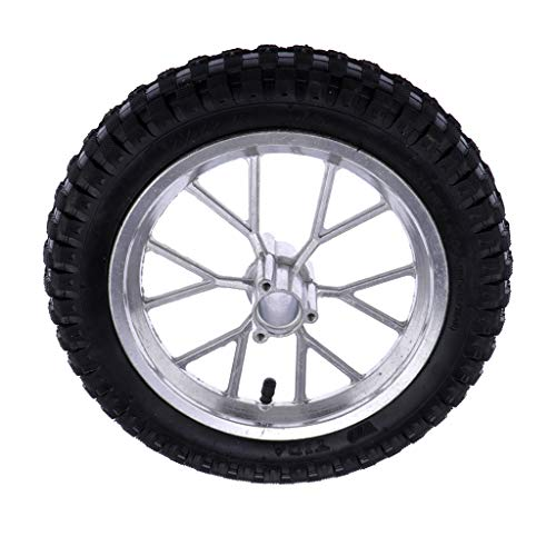H HILABEE Neumáticos de Ruedas Delanteras de Goma para Motos Racing Bike Mini Moto 49cc