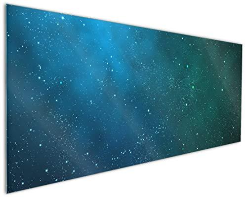 Wallario Küchenrückwand aus Glas, in Premium Qualität, Motiv: Sternenhimmel - Milchstraße und Sterne bei Nacht   Spritzschutz   abwischbar   pflegeleicht