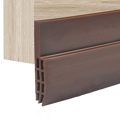 100 cm autoadhesivas tira de sellado de puerta de caucho de silicona resistente al agua copia de seguridad de puerta adhesivo para ventana puerta Gap, marrón