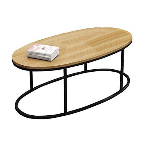 KangJZ-Tables KJzhu Ovaler Tisch, kreativer Balkon Wohnzimmer Eisen Kunst Teetisch Couchtisch Dekoration Multifunktionstisch Groß (Color : E)