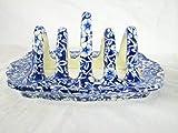 vintage blue victorian toast rack