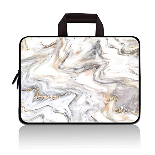 RUYIDAY 11 11.6 12 12.1 12.5 inch Laptop Carrying Bag Chromebook Case Notebook Ultrabook Bag Tablet Cover Neoprene Sleeve Fit Apple MacBook Air Samsung Acer HP DELL Lenovo Asus (Marble)