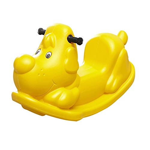 LALAWO Children's leisure chair Children's Rocking Horse Small Horse Baby Toy Plastic Thickening Large Baby Rocking Horse 1-3 Years Old Exercise Balance, Safety And Stability