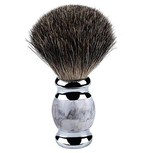 HLPIGF Cepillo de Barba de Pelo de TejóN Puro Cepillo de Espuma de Crema de Afeitar Cepillo de Pelo Suave con PatróN Retro de Estilo Chino para Hombre