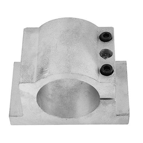Staffa di supporto per mandrino in alluminio pressofuso per stampante 3D, fresatrice CNC e fresatrice per incisione, 52mm Dia, Silver, 1