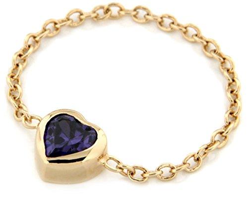 Bijoux pour tous anillos Mujer chapado en oro circón corte heart