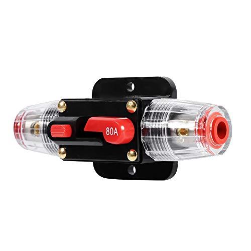 Keenso - Rosca Adaptador Metrica Tuberia Agua M10 Radiador 40mm para coche, barco, caja de fusibles, impermeable para protección del sistema, 12V-24V 50A 60A 80A 100A