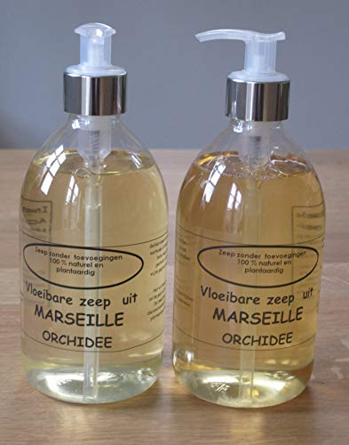Vloeibare Marseille zeep pompje 2x 500 ml Orchidee