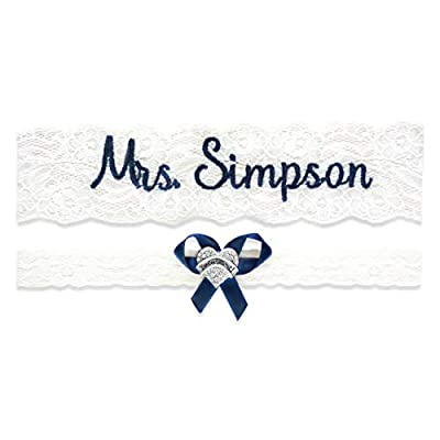 """Wedding Garter for Brides Personalized Bridal Custom Garters No Slip Lace (Medium (18"""" - 19""""), White) from"""