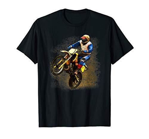 Casco Motocicleta Freestyle Regalo Motero-s Moto Diabolo Bike Moto-Cross Baddery Camiseta: MX Dirt Life Moto-X- Motociclismo T-Shirt Biker Hombre-s y Mujer-es Downhill