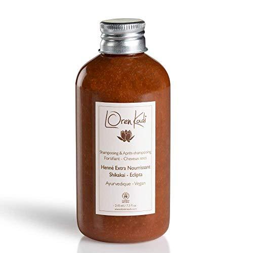 Loren Kadi - Shampoing Cheveux Secs - Purifiant, Stimulant -Naturel, Ayurvédique - Certifié Cosmos - Vegan - 210 ml