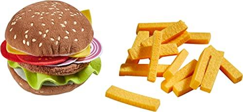 HABA 305817 - Burger mit Pommes frites, Küchenspielzeug ab 3 Jahren