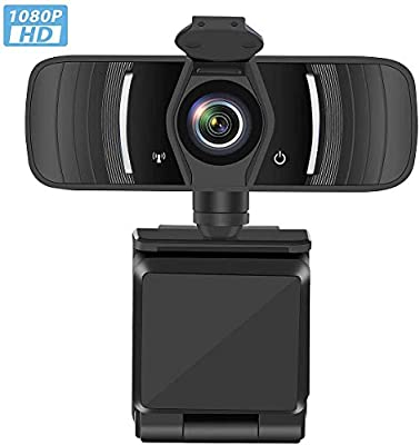 1080P Webcam with Microphone & Privacy Cover, Web Cam USB Camera, Computer HD Streaming Webcam for PC Desktop & Laptop w/Mic, Wide Angle Lens & Large Sensor for Superior Low Light
