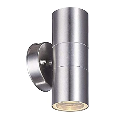 Outdoor Wall Lamp, earlybird-fly Up and Down Cylinder Wall Light Fixture, IP64 Waterproof Exterior Wall Sconce Porch & Patio Lighting (Standard Fitting Without Light Bulb)