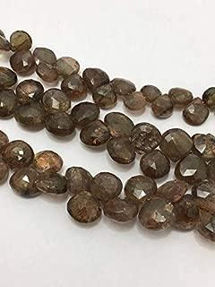 "Jewel Beads Natural Beautiful jewellery Natural Andausalite Faceted Hearts 5.5 to 6.5 mm 8""/Gemstone Beads/Semi Precious Beads/Andausalite Beads/Faceted Heart BeadsCode:- JBB-17581"