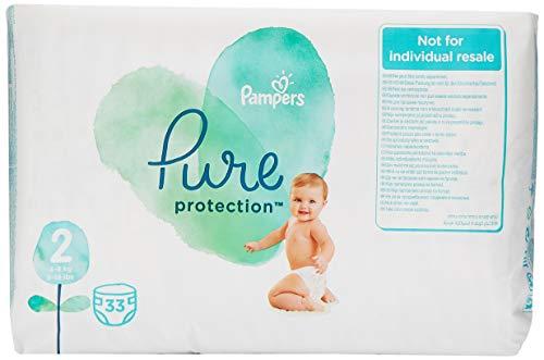 Pampers Pure Protection Maat 2 (4-8kg), 132 Luiers, Gemaakt Van Materialen Met Hoogwaardig Katoen En Plantaardige Vezels