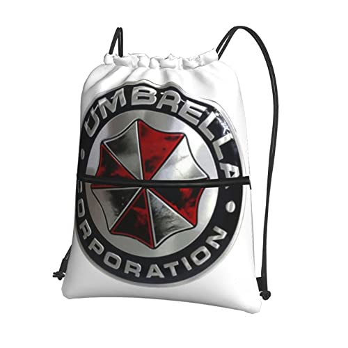 Umbrella Corporation - Mochila con cordón para natación, bolsa de polietileno, con cordón grande, para deportes, gimnasio, para mujeres, hombres