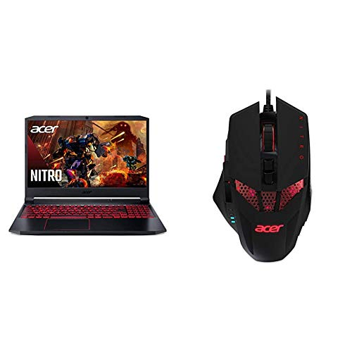 Acer Nitro 5 Gaming Laptop, 10th Gen Intel Core i5-10300H, NVIDIA GeForce GTX 1650 Ti, 15.6' Full HD IPS 144Hz Display, 8GB with Acer Nitro Gaming Mouse