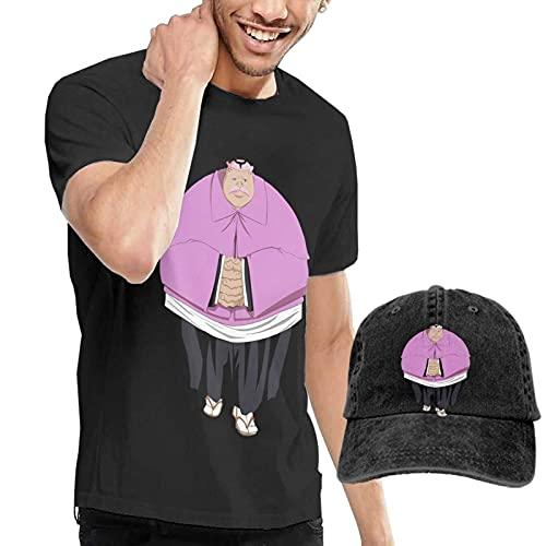 Hachigen Ushoda Camiseta para Hombre Bleach Anime Camiseta de Manga Corta y Sombrero de Vaquero