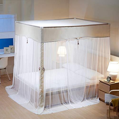 ASDFGH Estilo Europeo Cifrado Princesa Bed Canopy, 4 Esquinas Post Cama Dosel Cortinas Tres Aberturas Los niños mosquiteras Mosquitero para Cama-D 150x200cm(59x79inch)