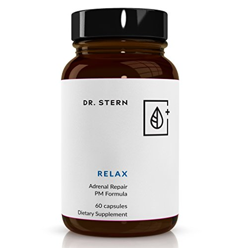Relax - Natural Adrenal Repair - Dr. Formulated to: Manage Cortisol & Stress, Promote Sleep - W/Organic Holy Basil, ZMA, Magnolia Bark, L-Theanine & More - Vegan - Made in USA - 60 Capsules