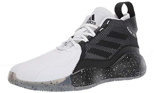 adidas unisex adult D Rose 773 2020 Basketball Shoe, White/Black/White, 10.5 US