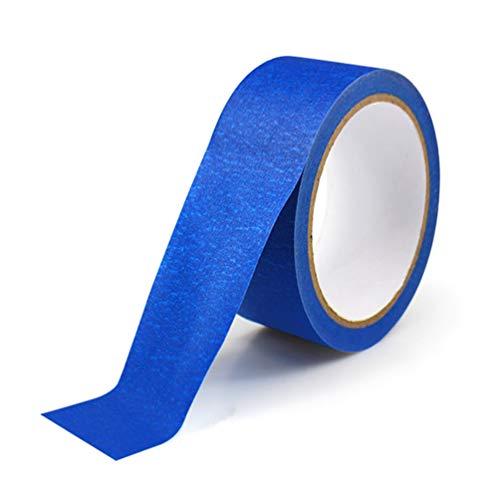 Scicalife Impresoras 3D Rollo de Cinta de Papel Adhesivo Resistente Rastreable Azul Cinta Adhesiva Papel Crepé Térmico 100Mm X 30M Azul