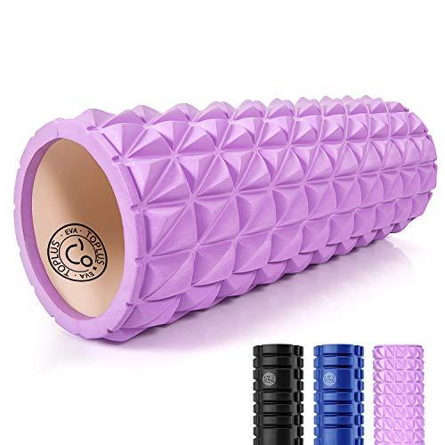 TOPLUS Yoga Säule Pilates Rolle Faszienrolle Sport Schaumstoff Rolle Eva Foam Yoga-Schaumstoffrollen Hilfsmittel zur Muskelverspannungen/Druck lindern, 33CMX14CM