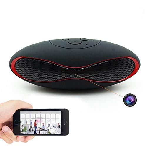 GEQWE Cámara Espía con Altavoz Bluetooth, HD 1080P Mini Cámara IP WiFi Cámara Oculta Inalámbrica Cámara De Seguridad Mini CAM, para La Seguridad De La Oficina En El Hogar