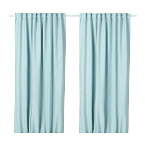 IKEA Vilborg Curtains 1 Pair White / Turquoise / 2 Pack 304.234.18 Size 57x98