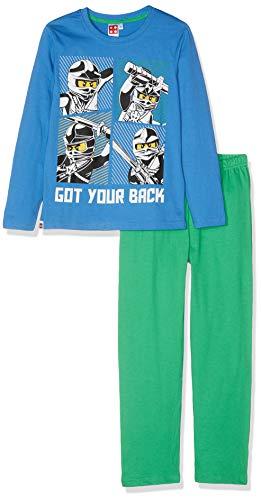 LEGO NINJAGO Jungen 1794 Zweiteiliger Schlafanzug, Blau, 104
