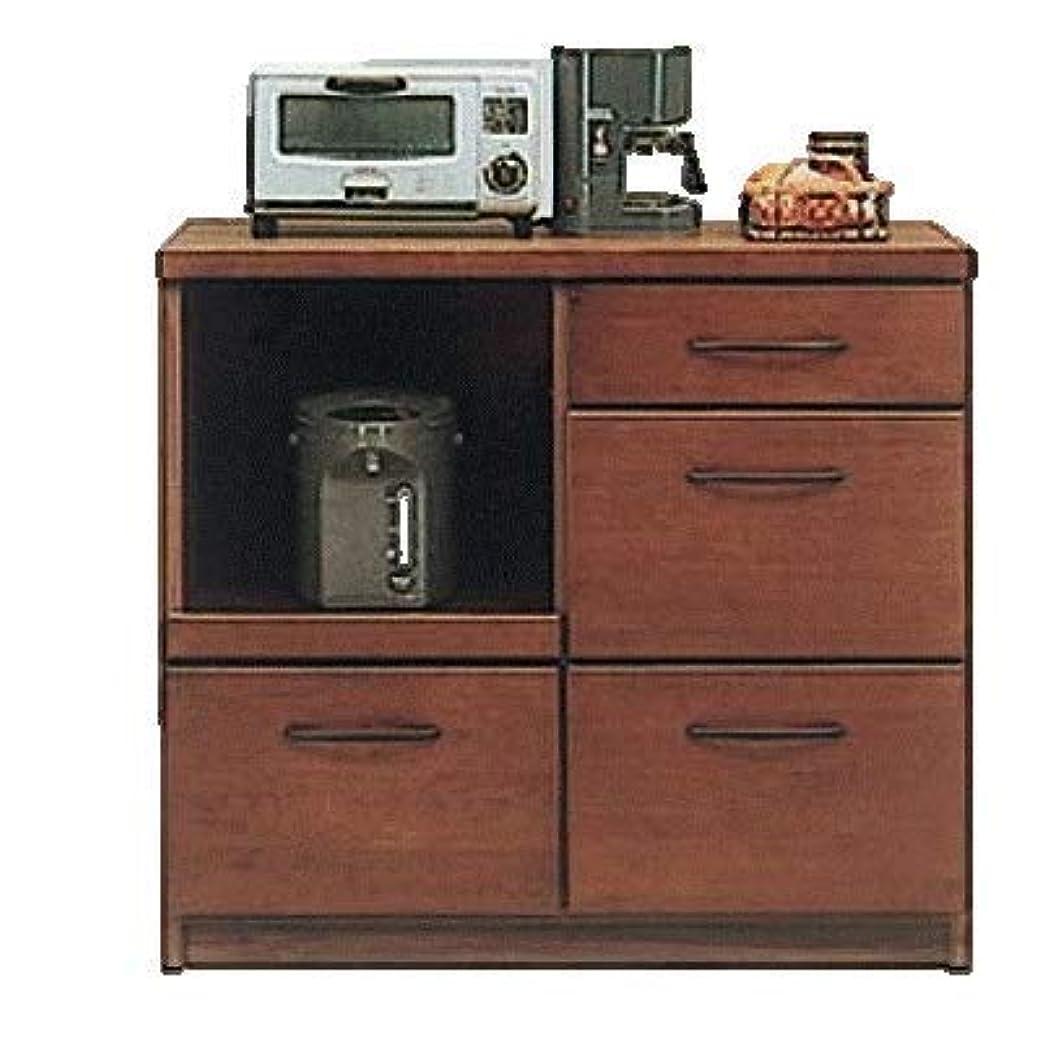 モードリン珍味文明化する日本製 北欧風 幅100cm キッチンカウンター レンジ台 ブラウン 完成品 (ブラウン)