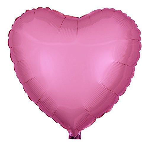 Ballongruesse - Folienballon Herz, Pearl Rosa als Ballongruss heliumgefüllt im Überraschungskarton