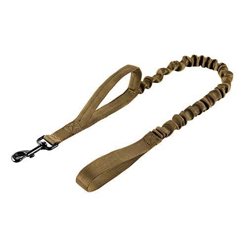 OneTigris Flexi Hundeleine Führleine Nylon mit Halteschlaufen, Länge 85,1 cm - 118,1 cm (33,5