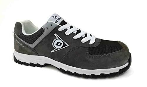 Dunlop DL0201040-40 Flying Arrow Line S3 Zapatos de ante y malla, color carbón, talla 40