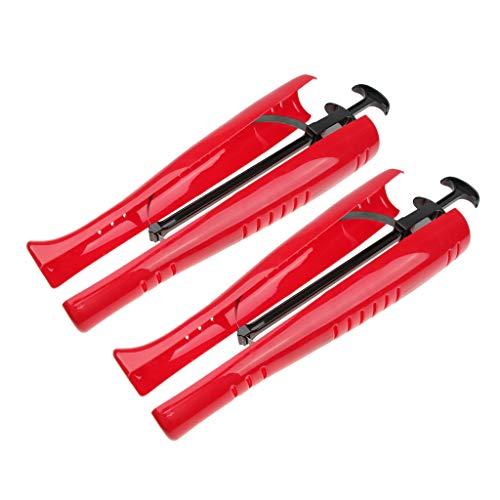 sharprepublic 2 Pedazos Estirador de Botas Altos Camilla Plástico Estensor Zapatillas Calzador Botas hasta Rodilla Ensanchador Zapatos Adultos - rojo