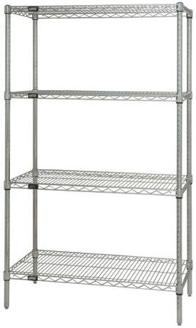 BetterBeds 4-Shelf Chrome Wire Memphis Mall Shelving x 48 Kit44; OFFicial shop 12 Starter