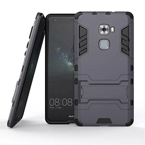 Apanphy Huawei Mate S Hülle, Dual Layer Kratzfeste Tasche Schutzhülle mit Ständer für Huawei Mate S case Cover, Dunkel Blau