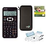 SHARP Streberpaket EL-531XH Weiß + Schutztasche + Lern-CD (auf Deutsch) + Geometrie Set + Erweiterte Garantie