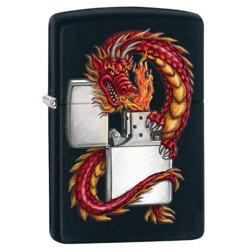 Zippo Dragon with Black Matte Lighter (218DRAG)