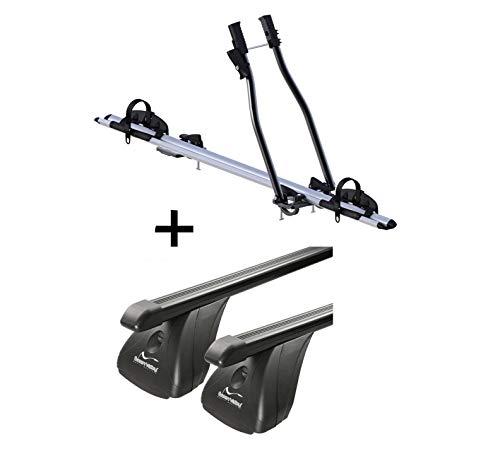VDP Fahrradträger SAGITTAR + Dachträger Original Stahl kompatibel mit Opel Corsa D 3-5 Türer 2006-2015