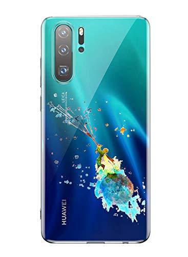 Oihxse Mode Transparent Silicone Case Compatible pour Huawei Nova 6SE Coque, Ultra Mince Souple TPU Mignon Animal Série Protection de Housse Anti-Scrach Bumper Etui -Petit Prince