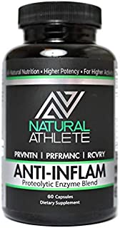 Natural Proteolytic Systemic Enzymes with Probiotics Supplement | Extra Strength Inflammation Relief for Aches, Soreness, Circulation (60 Capsules)