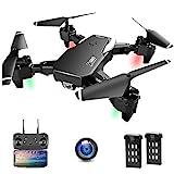 Drone con Telecamera, Droni per Principianti, 1080P HD Pieghevole Drone con WiFi...