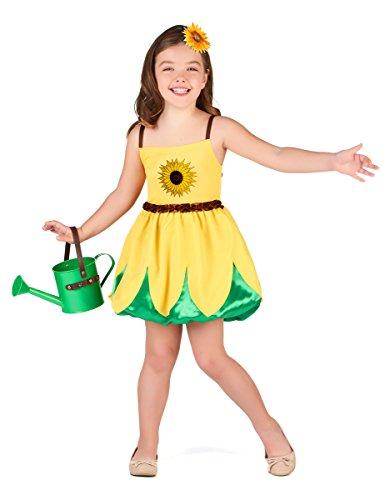 Generique - Disfraz Girasol niña XS 3-4 años (92-104 cm)