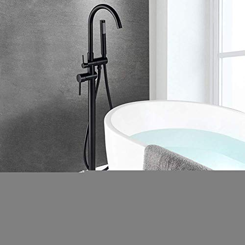 %41 OFF! Shower System Bathtub Faucet Brass Chrome Floor mounting Bathroom Faucet Swivel spout one-H...